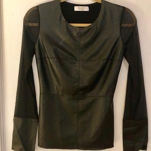 Bailey 44 Black Vegan Leather Top